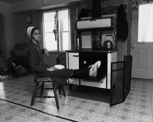 "Honey Lazar, ""Lunch on a Cold Day"", 2006, gelatin silver print."