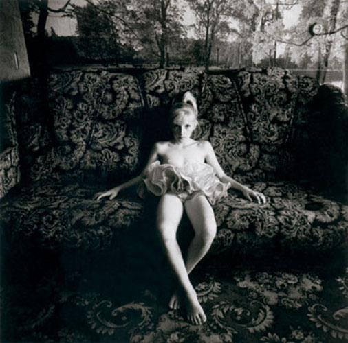 "Michal Chelbin, ""Xenia on a Couch, Russia, 2003"", 2003."