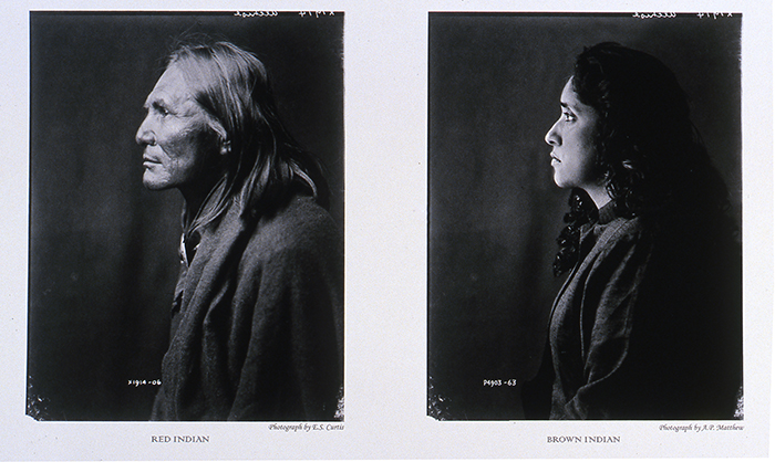"Annu Palakunnathu Matthew,""Red Indian / Brown Indian"", from the series An Indian from India, 2001, Archival Computer Print"
