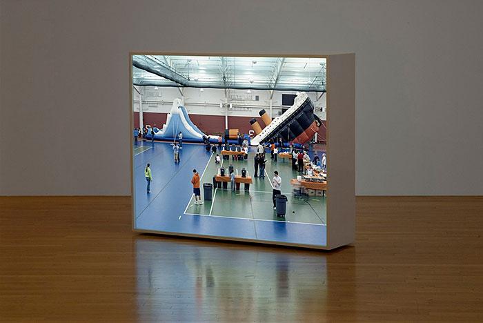 "Clint Baclawski, ""The Titanic"", 2008, sculptural photographic lightbox, 42x52x12"""