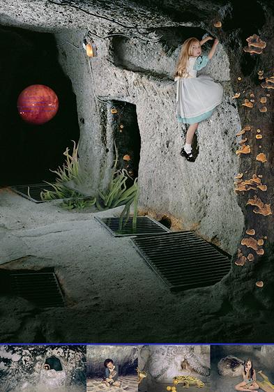 "Meghan Boody, ""Psyche Enters (#1)"", 1999, Lightjet print, custom frame. Courtesy Sandra Gehring Gallery, NYC."