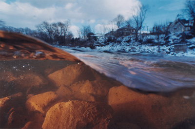 "Tim Butler, ""Eddy Near the Borehole, Old Forge, PA"", 2002, C-print"