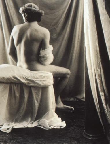 "Bather (after Ingres), silver gelatin print, 14 x 11"""