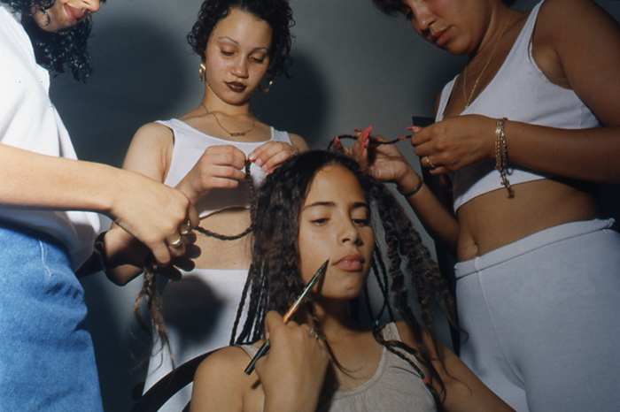 Unbraiding, New York City, 1996, C-Print, 20x24""