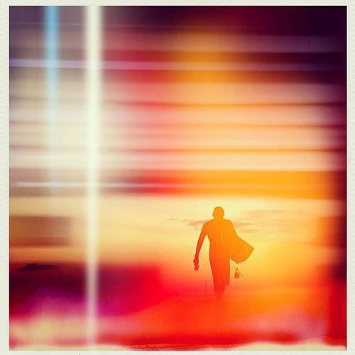 """surf | punta.mita.mexico #travel #surf #sunset #mexico #puntamita #color #photography"", 2014, Archival Pigment Print, 9 x 9"""