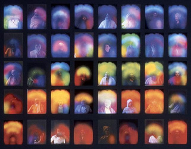 "Chrysanne Stathacos, ""Aura Grid"", 2003, archival inkjet print, 24x30"""