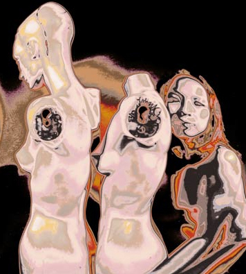 "Dan Mccormack, ""Akiyo 2/24/01, 3AD"", 2001, Lysonic Ink Jet print."