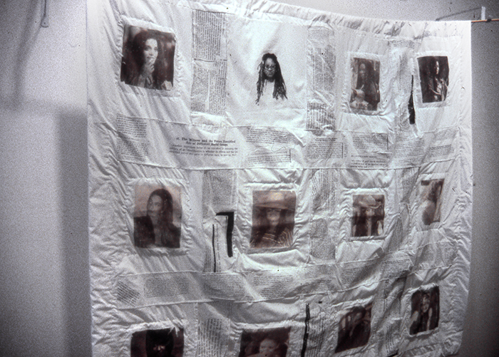 "Damali Ayo, ""Line-Up"", 2001, assemblage"