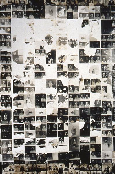 Donde vamos, quienes somos, de donde venimos, 1995, photo negatives on canvas