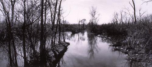 "Eric Lindbloom, Tivoli Bays, Annandale on Hudson Ny, 7x17"", 1994"