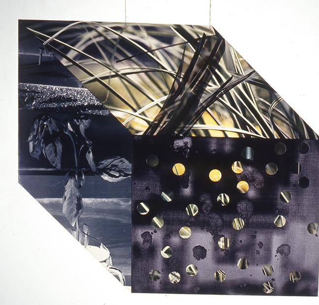 "Eva Heyd, ""Winter in Queens"", 1998, 2-D hanging piece: plexiglass, duratrans, silver gelatin print, 34x39""."