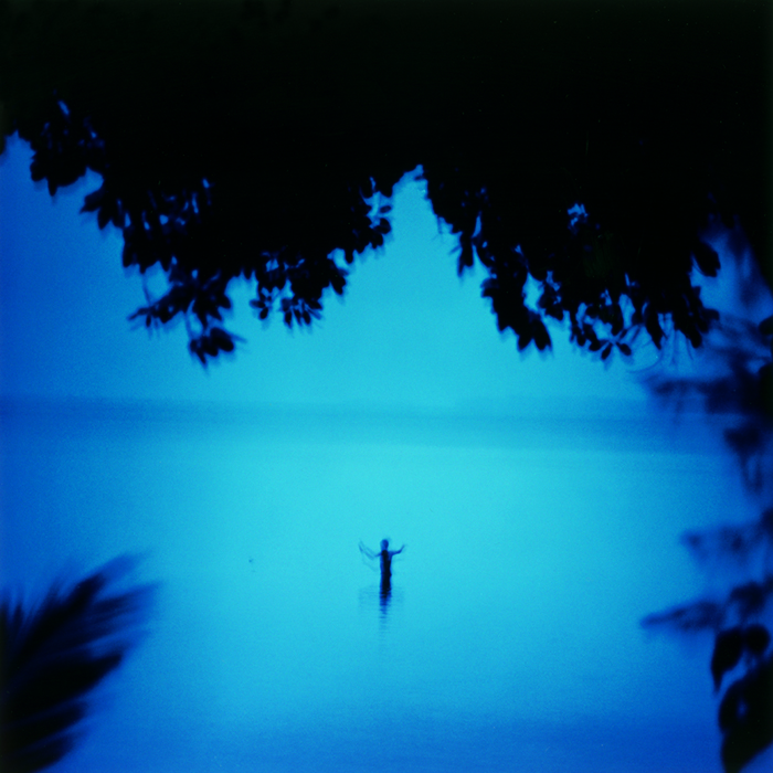 "James Fee, ""Blue Boy Fishing, Peleliu"", 2001, c-print, ed #2/20."