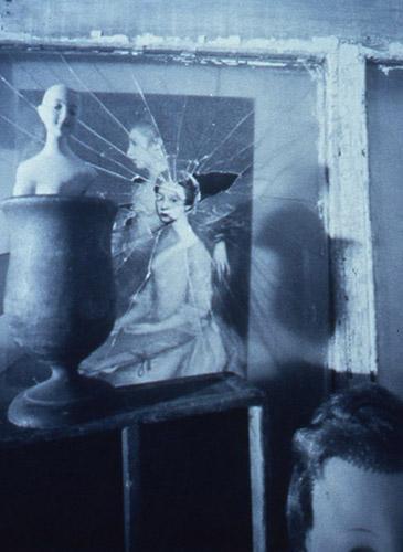 Jesseca Ferguson, Portrait of an Artist's Daughters (before restoration) 1, 2000, cyanotype