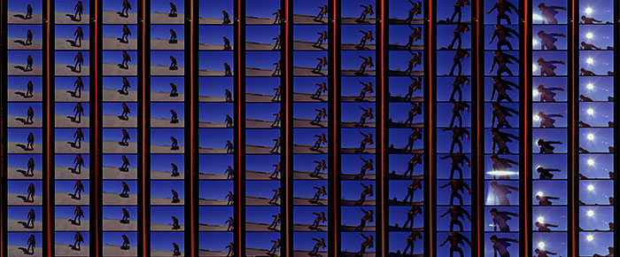 "Jona Frank, ""COR-E, Filmstrip #2"", 2003, 5245 enlarged c-print, 20x45""."
