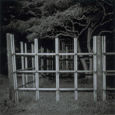 "Dana Fritz, ""Tea Garden Fence"", Japanese Garden, Portland, 2002, gelatin silver print"
