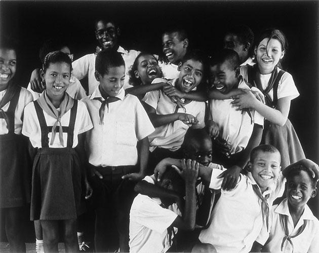 "Gerald Forster, ""Cuba, School Kids"", 2002, selenium toned gelatin silver print"