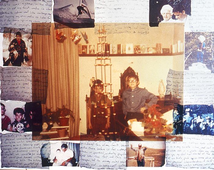 "Gregory Van De Rostyne, ""Tinkertoys"", C-print and Polaroid transfers, 16x20""."