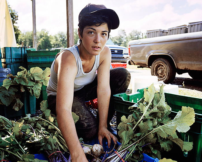"Daniel Handal, ""Nora at Poughkeepsie Farm Project"", Poughkeepsie, from the series ""Between Forest and Field"", 2009, c-print, 16x20"""