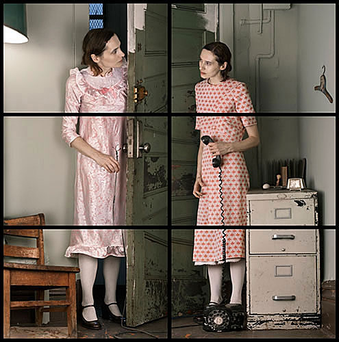 "Cornelia Hediger, ""11.07.08"", 2008, from the series, Doppelgänger, C-print, 30x30"". Courtesy of Klompching Gallery, Brooklyn, NY."
