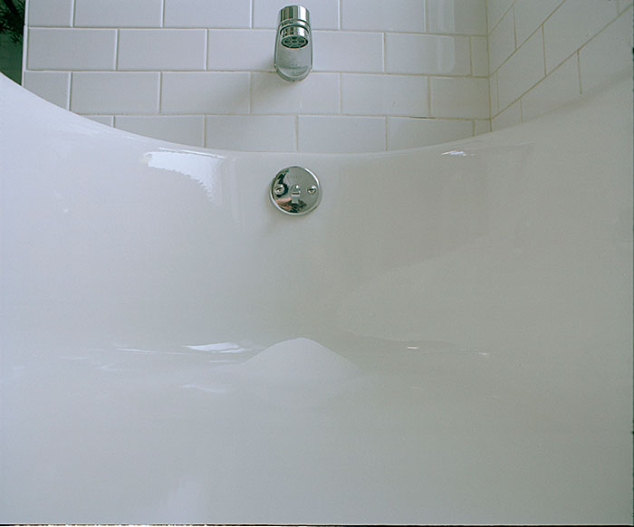 "Rebecca Horne, ""Untitled (Salt pile in bathtub)"", 2005, C-print."
