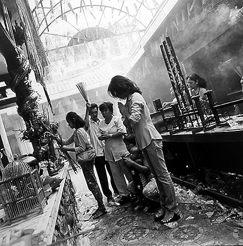 Howard Henry Chen, Chinatown, Ho Chi Minh city, Vietnam, 2000, 2003, inkjet transfer onto Kozo