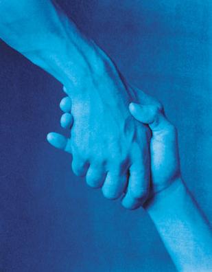 "John Dugdale, ""Christ Our Liberator"", 1999, Cyanotype. Courtesy John Stevenson Gallery, NYC."