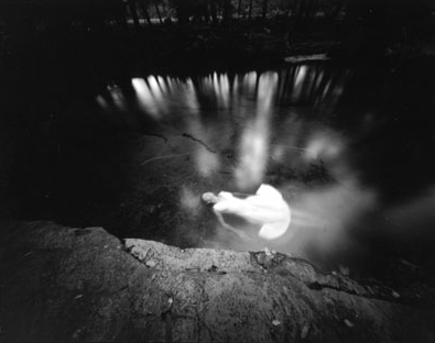 "JoJo Ans, ""Floating"", 2000, Platinum/Palladium print."