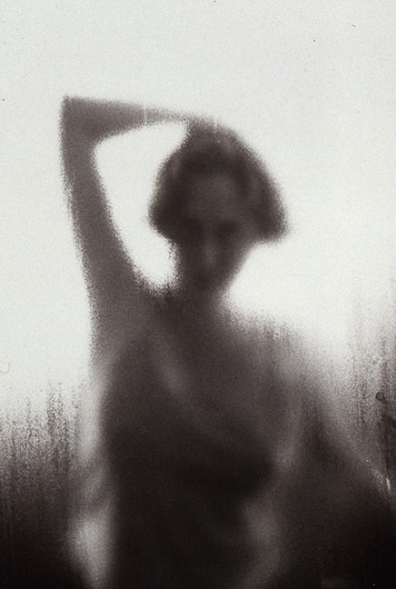 "Jamie Nicholl, ""Outdoor Pose"", 1999, Gelatin Silver Print."