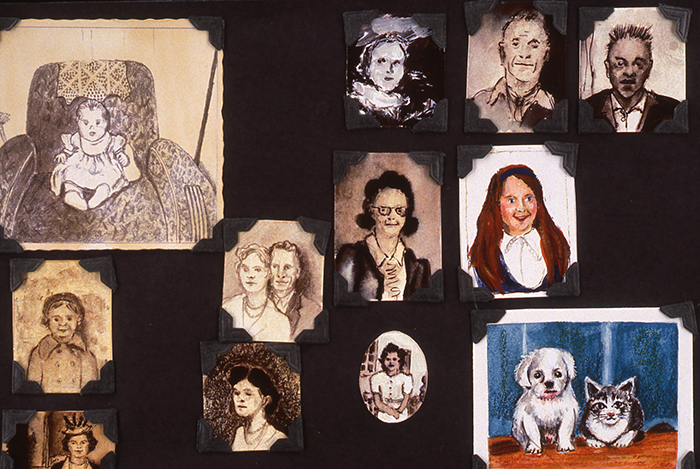 "Judith Shelby, ""Photo Album, 1999, mixed-media instillations"