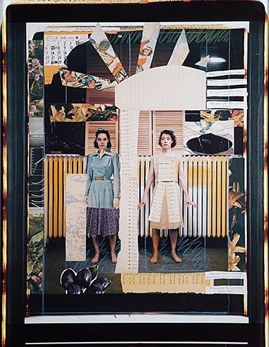 "Kathleen Kenyon, ""So We Say – July"", 1984, Polaroid and collage, 20x24""."