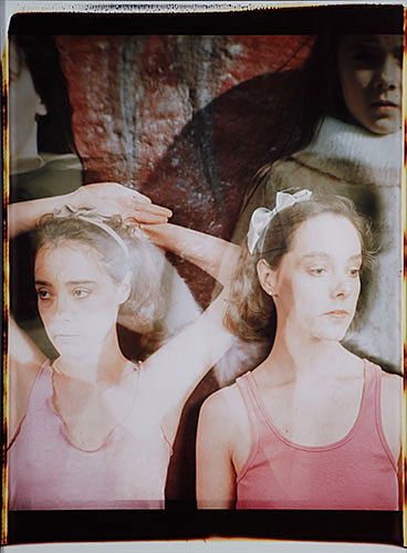 "Colleen Kenyon, ""Colleen and Kathleen"", 1984, Polaroid, 20x24""."