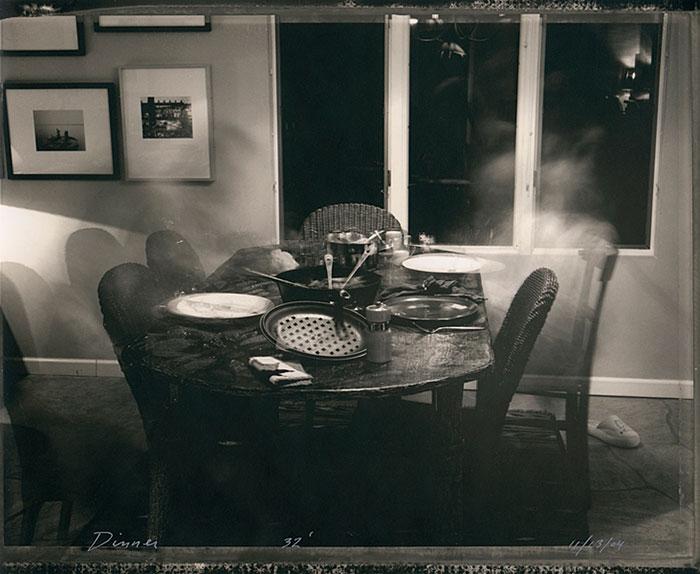 "Mark Klett, ""Dinner-32 Minutes"", 11/13/04, silver gelatin print."