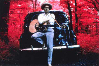 "Elliott Landy, ""Dylan Infrared"", 1968, Cibachrome."