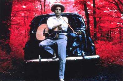 "Elliott Landy, ""Dylan Infrared"", 1968, Cibachrome."