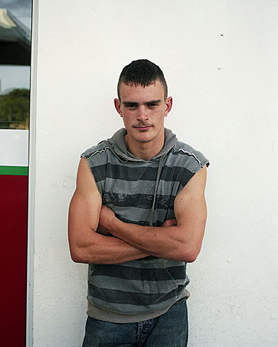 "Shane Lavalette, ""Boy at Gas Station"", from the series ""Slí ná Boirne"", 2008, c-print, 20x16"""