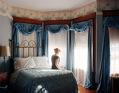 """Yijun Liao , """"The Stranger in Her Room"""", from Stills from Unseen Films series, 2008, c-print, 20x24"""""""