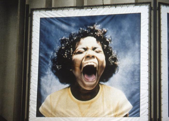 I scream, 1997, photo transfer on voil