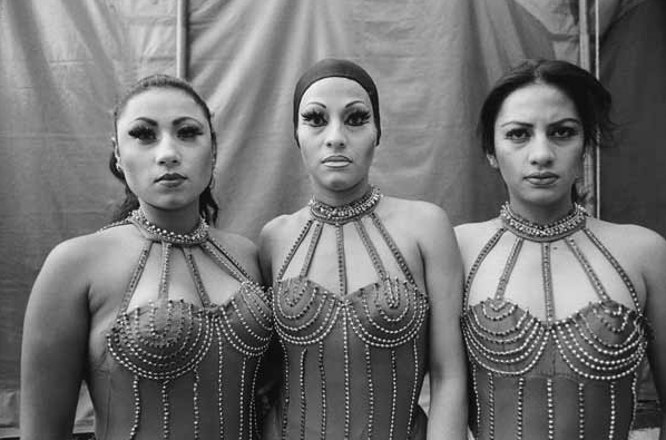 "Mary Ellen Mark, ""Mexican Circus (Three Women Performers)"", 1997, Gelatin Silver print."