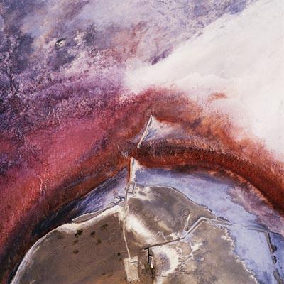 "David Maisel, ""Owens Lake, California, #9283-3, ed#2/10"", 2002, C-print Courtesy Von Lintel Gallery, NYC"