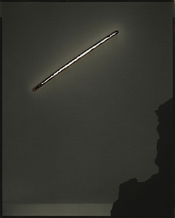 "Chris McCaw, ""Sunburned GSP #50 (Pacific Ocean)"", 2007, silver gelatin negative."