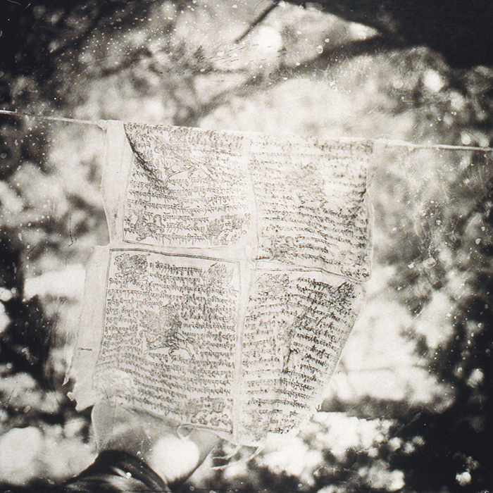 "Michael Marshall, ""Prayer Flag"", 2001, Platinum/Palladium print, 18x18""."