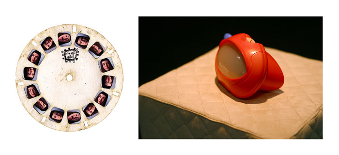 "Olivia Robinson, ""Letter"", 2002, viewmaster, slide film, fabric."