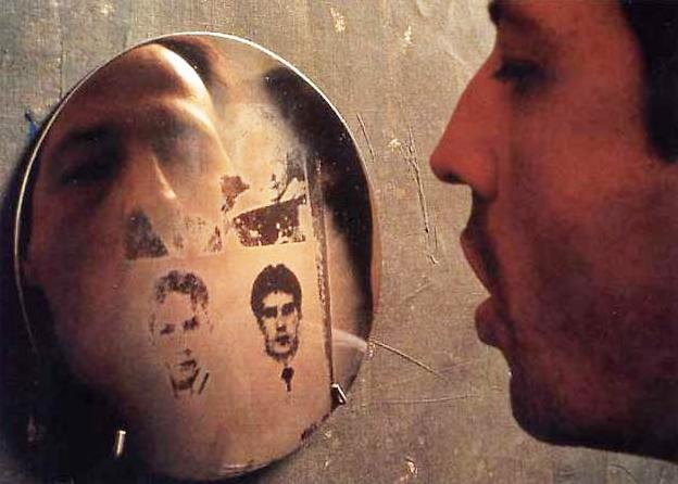 "Oscar Muňoz, ""Aliento (Breath)"", 1999, Photo-Serigraphs with grease on steel discs, $14,000 (set of twelve only) Oscar Muñoz work courtesy Sicardi Gallery, Houston, TX."
