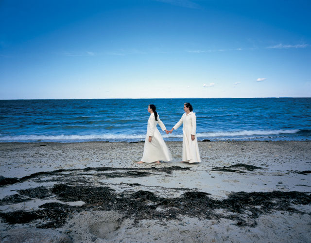 "Christa Parravani, ""The Beachcombers"", 2003, from the series ""Kindred"", digital C-print, 40x50"". Courtesy of Foley Gallery, NYC."