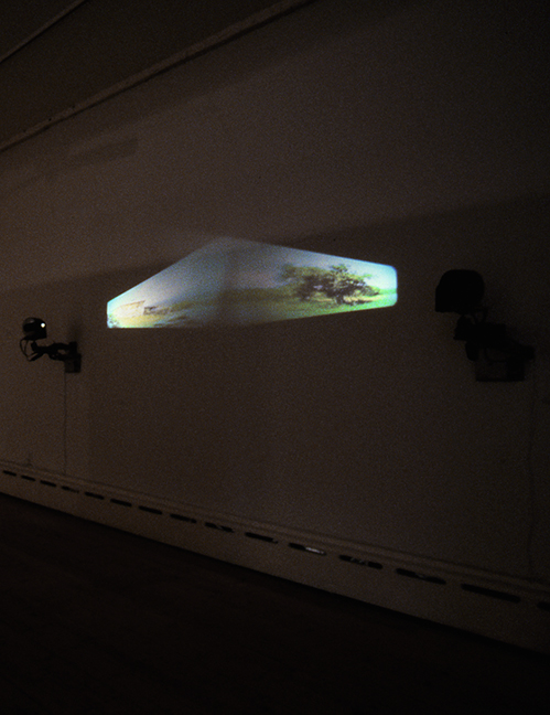 "Sigrid Hackenberg, ""The Time And The Place"", 1999, 21x88"" Two-channel video projection installation."