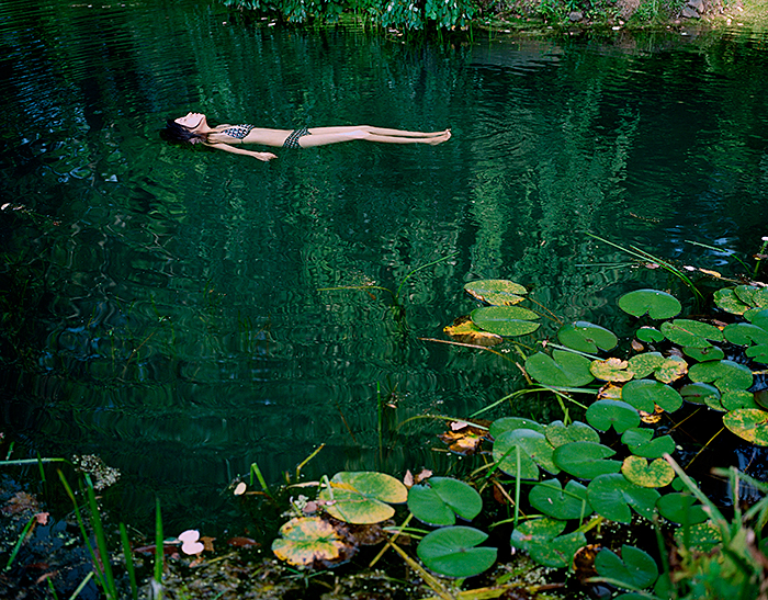 "Kanako Sasaki, ""The Swimmer"", from the series ""Wanderlust"", 2007, Lambda print, 16x20"""