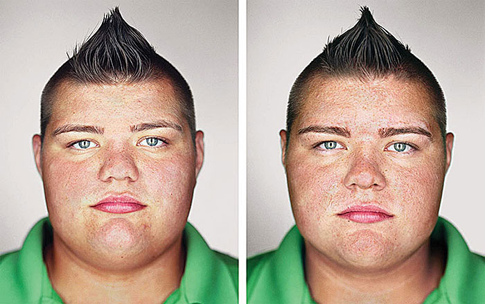 "Martin Schöeller, ""Spencer and Skyler Nick"", 2012, from the series ""Identical"", C-print, each 24x30""."