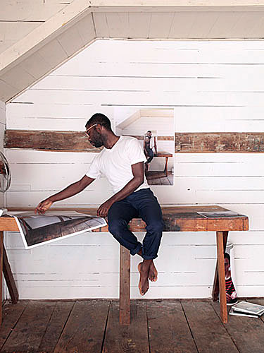 "Paul Mpagi Sepuya, ""Self-Portrait After, from the series Glasco Turnpike"", 2010, archival inkjet print, 20x16""."