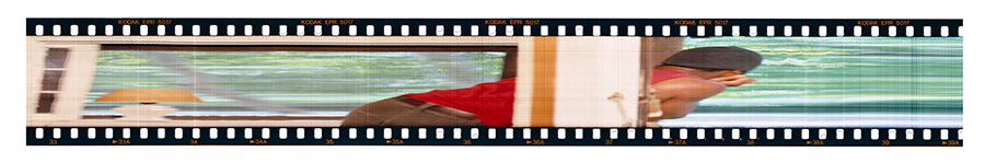 "Kwabena Slaughter, ""Through the Window, Through the Door"", 2006, c-Print on duratrans in lightbox, 10¼x42¼"", on loan from CPW's Permanent Print Collection"
