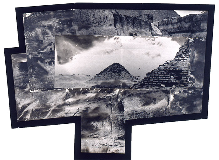 "Tatana Kellner, ""Saqqara"", altered gelatin silver print, 55 1/2"" x 83"""